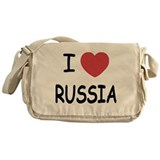 I heart russia Messenger Bag