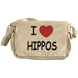 I heart hippos Messenger Bag