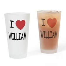 I heart william Drinking Glass