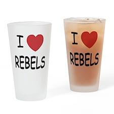 I heart rebels Drinking Glass