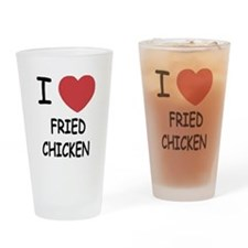 I heart fried chicken Drinking Glass