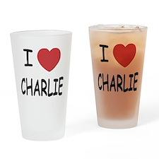 I heart charlie Drinking Glass