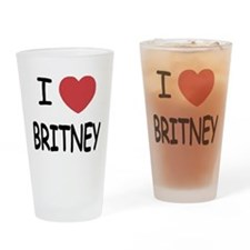 I heart Britney Drinking Glass