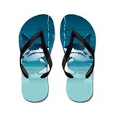 Cute Great white shark Flip Flops
