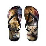 Cute King of the jungle Flip Flops