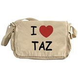 I heart taz Messenger Bag