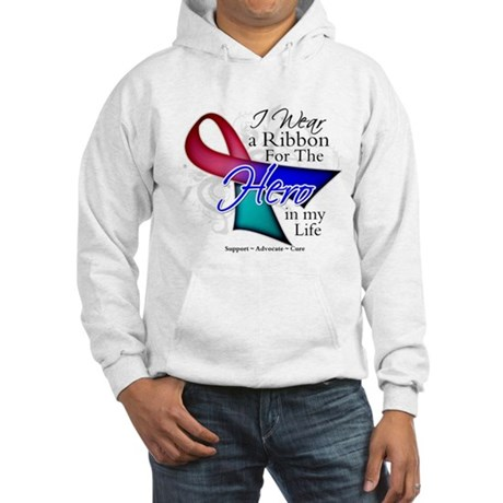 Thyroid Cancer Hero Hooded Sweatshirt