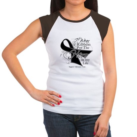 Skin Cancer Hero in My Life Women's Cap Sleeve T-S
