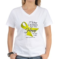 Sarcoma Hero in My Life Women's V-Neck T-Shirt