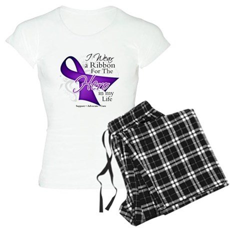 Pancreatic Cancer Hero Women's Light Pajamas