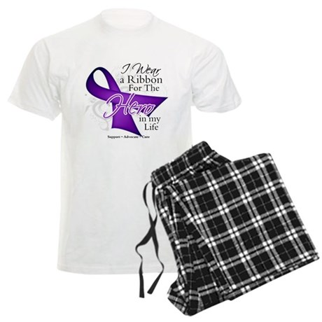 Pancreatic Cancer Hero Men's Light Pajamas