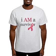 i AM a survivor (Red) T-Shirt