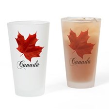 Show your pride in Canada Drinking Glass