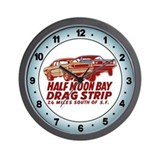 Half Moon Bay Drag Strip Wall Clock