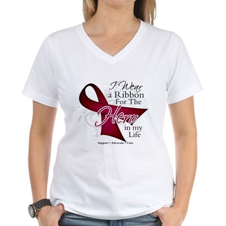 Multiple Myeloma Hero Women's V-Neck T-Shirt