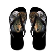 Cute Animal totems Flip Flops