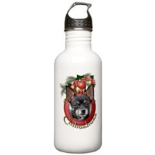 Christmas - Deck the Halls - Chihuahuas Water Bottle