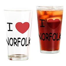 I heart norfolk Drinking Glass