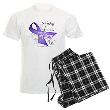 Cancer Hero in My Life Men's Light Pajamas