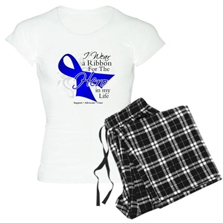 Colon Cancer Hero in My Life Women's Light Pajamas