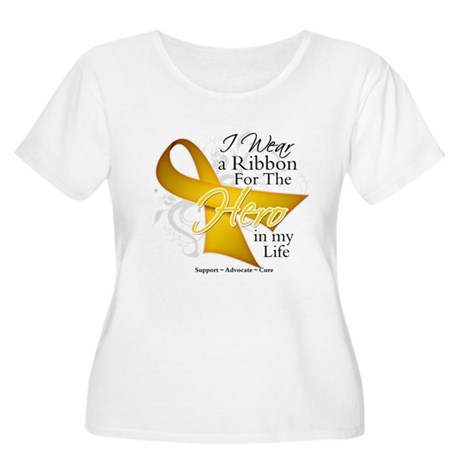 Childhood Cancer Hero Women's Plus Size Scoop Neck