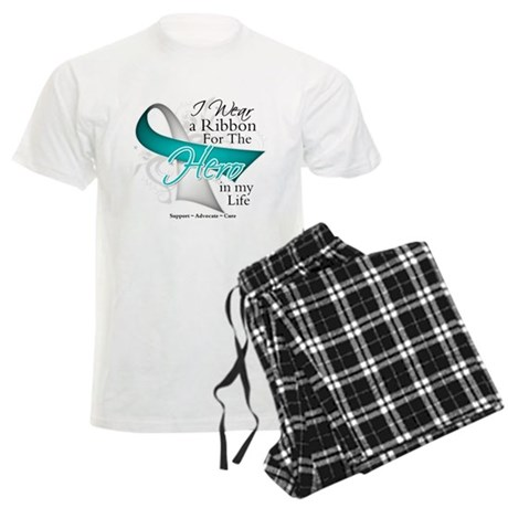 Cervical Cancer Hero Men's Light Pajamas