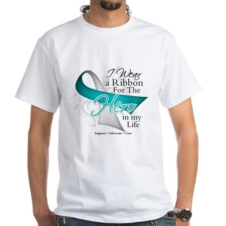 Cervical Cancer Hero White T-Shirt