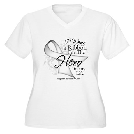 Bone Cancer Hero in My Life Women's Plus Size V-Ne