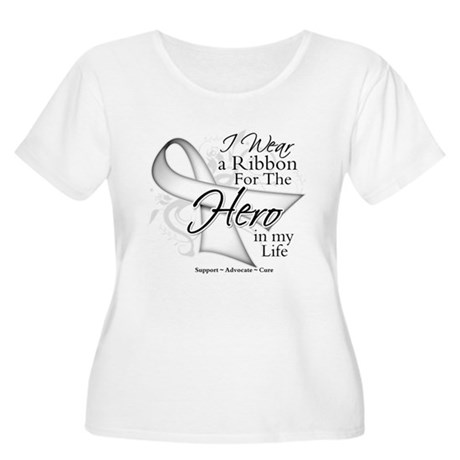 Bone Cancer Hero in My Life Women's Plus Size Scoo