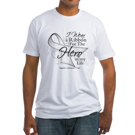Bone Cancer Hero in My Life Fitted T-Shirt