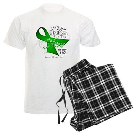 Bile Duct Cancer Hero Men's Light Pajamas