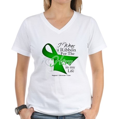 Bile Duct Cancer Hero Women's V-Neck T-Shirt