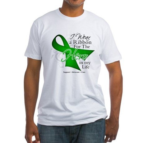 Bile Duct Cancer Hero Fitted T-Shirt