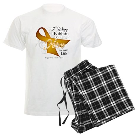Appendix Cancer Hero Men's Light Pajamas