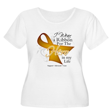 Appendix Cancer Hero Women's Plus Size Scoop Neck