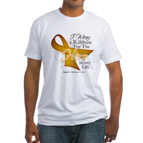 Appendix Cancer Hero Fitted T-Shirt