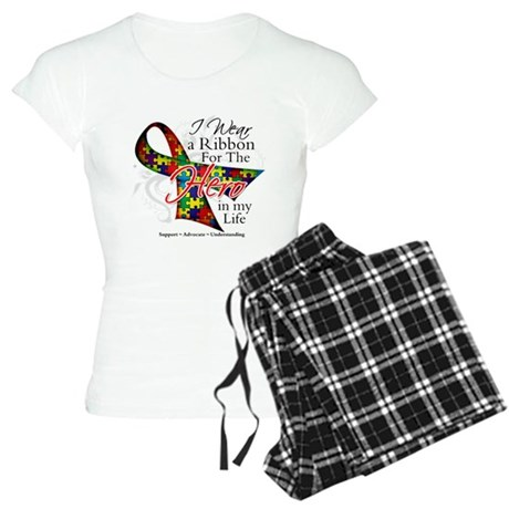 Autism Hero in My Life Shirts Women's Light Pajama