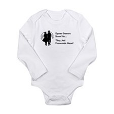 Square Dancers Never Die Long Sleeve Infant Bodysu