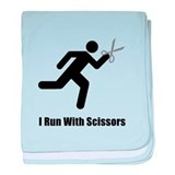 Run With Scissors baby blanket