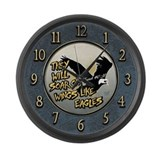 Soar on Wings like Eagles Large Wall Clock
