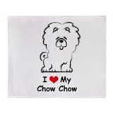 Chow Chow Throw Blanket