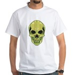 Green Skull White T-Shirt