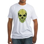 Green Skull Fitted T-Shirt