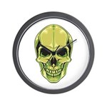 Green Skull Wall Clock