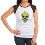 Green Skull Women's Cap Sleeve T-Shirt
