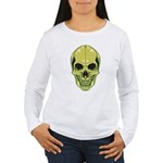 Green Skull Women's Long Sleeve T-Shirt