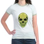 Green Skull Jr. Ringer T-Shirt