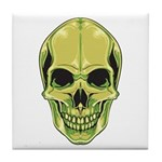 Green Skull Tile Coaster