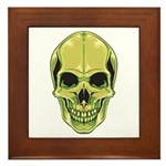 Green Skull Framed Tile