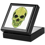 Green Skull Keepsake Box